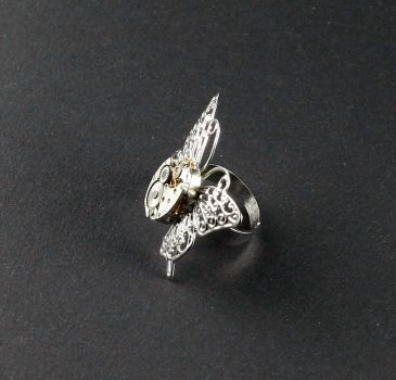 Ring Steampunk Schmetterling 2