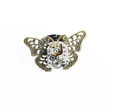 Ring Steampunk Schmetterling in Bronze 3