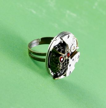 Ring Steampunk Eule 2