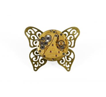 Ring Steampunk Schmetterling