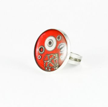 Ring Steampunk Rot