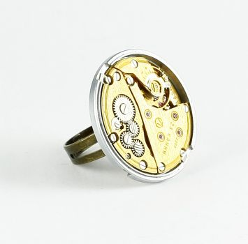 Ring Steampunk Gelbes Gold