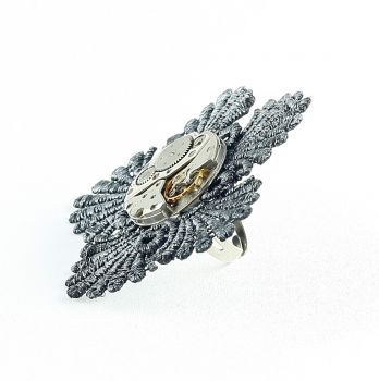 Ring Steampunk Blume