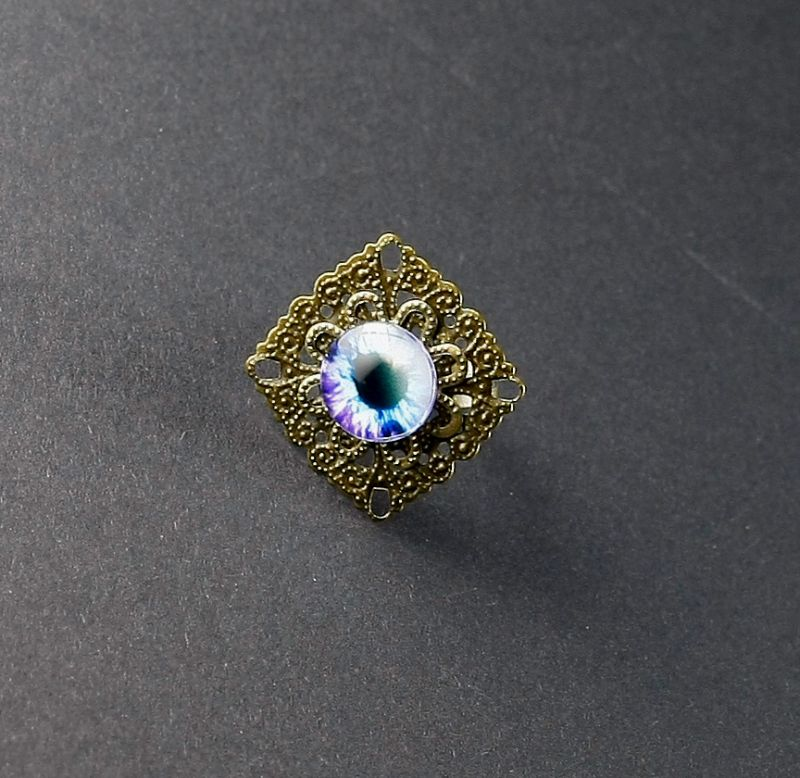Ring Auge in Blau