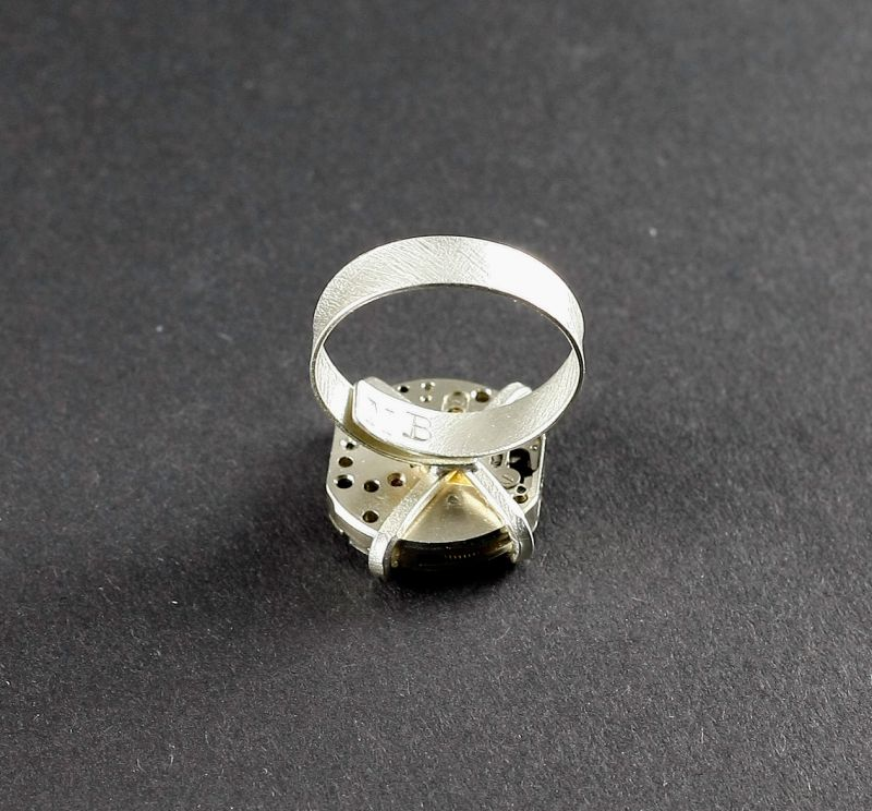 Ring Silber 925 Steampunk Quadrat