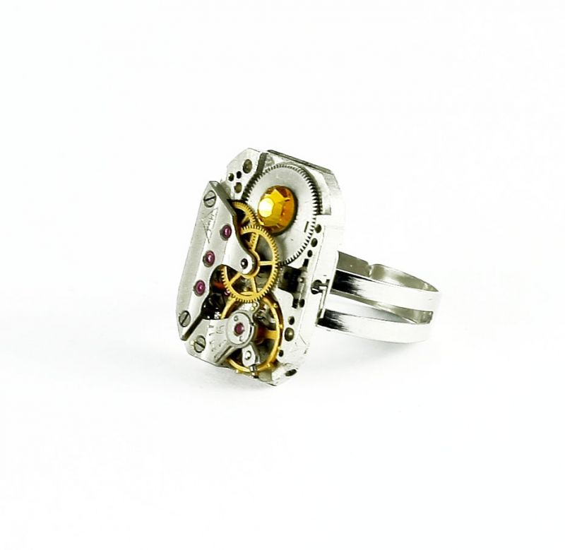Ring Steampunk mit Gold
