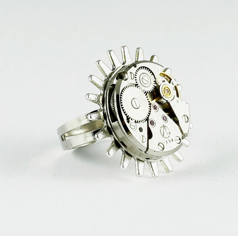 Ring Steampunk in Silber