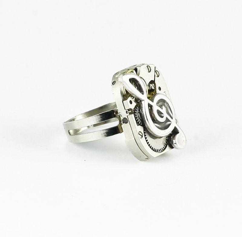 silber Ring Uhrwerk Teile von Uhrwerken Steampunk grau ...