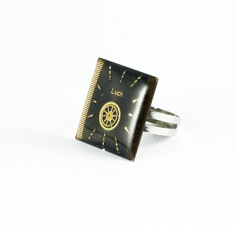 Ring Steampunk Luch in schwarz